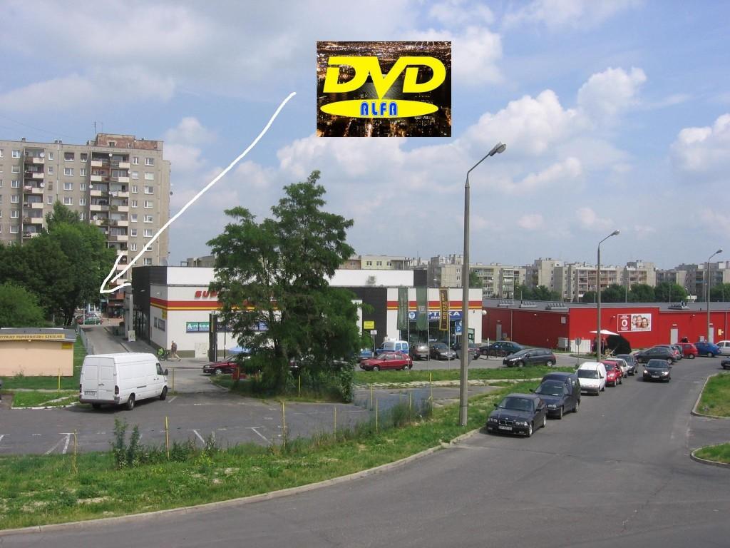 """03 Wypożyczalnia filmów DVD """"ALFA"""" 45-304 Opole ul. Sieradzka 3 Malinka lokal"""