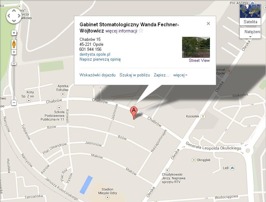 Mapa - Gabinet stomatologiczny Wanda Fechner-Wójtowicz